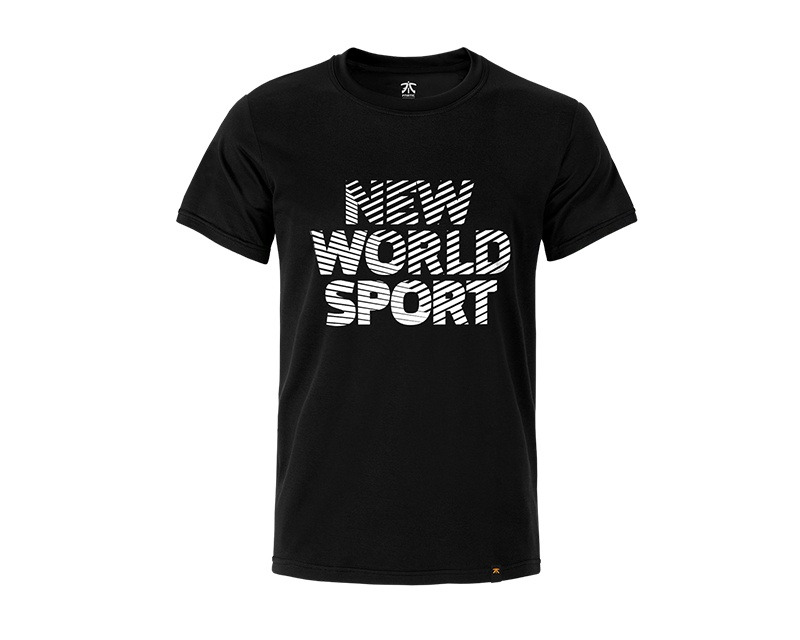 New World Sport - Premium T Black ryhmässä Vaatteet / Team store / Fnatic @ MaxGaming (10142)